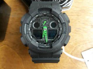 Casio G shock Ga 100c 1a3 Speed Indicator Black Dial Men s Watch