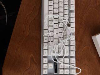 Mechanical lED Colorful Backlight Adjustable Gaming USB Wired Keyboard Black White for Windows 8 Windows 7 Windows Vista