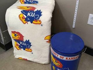 KU Tin Can   Fleece Blanket