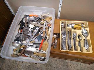 large Selection of Silverware   Kitchen Utensils