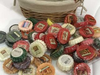Variety of Yankee Candles and Basket