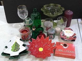 Christmas Dishes  Candles  Glassware