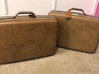 Tan Tourister luggage