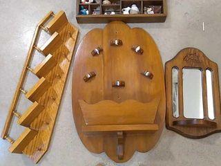 5  Wood Wall Shelves Mirror