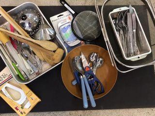 Strainers  Silverware    Cooking Utensils