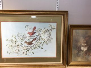 2  Pictures  Cardinals by Tony Biagi  Squirrel