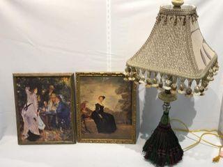2  Romantic Picture Frames   lamp