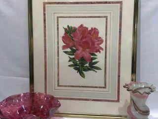 Flower Frame  Glass Eye Bowl    Vase