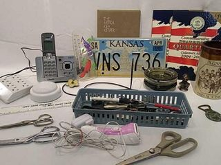 Assortment of Scissors  Razor    Other Items