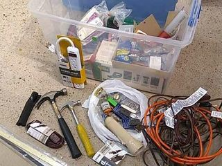 Selection of Tools  Hammers  Power Strip    More