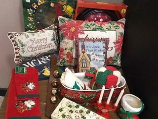 Christmas Clock  Pillows  Towels   More