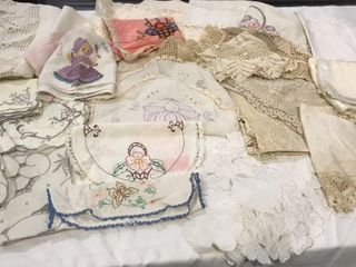 Doilies  Chair   Dresser Scarves