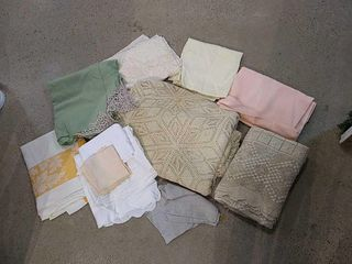 Selection of Crocheted Tablecloths  linens