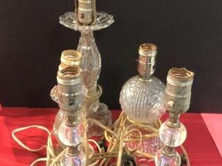 5 Glass lamp Bases