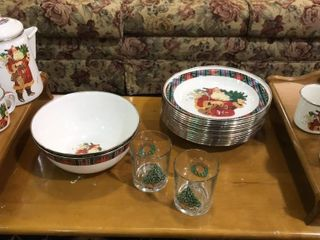 Santa Tin Dishes