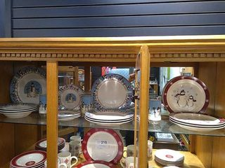 Snowman Winter Dishes  20 Pieces Total