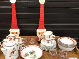 Tin Christmas Dishes