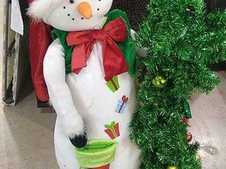 Stuffed Snowman w  Tree  41  High