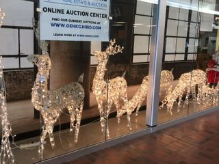 lighted Outdoor Reindeer and Sleigh Decorations