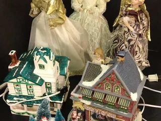 Angels   Christmas Houses