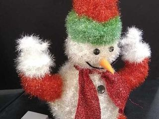 light up Fuzzy Snowman  17  Tall