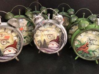 9  Tall Christmas Clocks x 7
