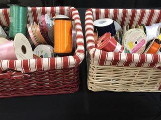 2 Baskets of Ribbon