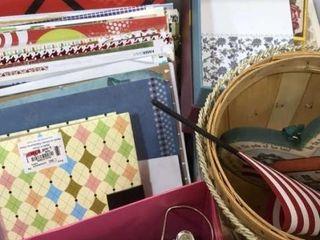 Scrapbook Paper  Memo Board   Craft Storage