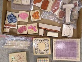 Assortment Of Rubber Stamps  Various Patterns