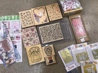 large Flower Block Stamps