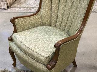 Overstuffed Brocade Chair