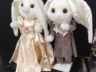 2  light Up Rabbit Dolls  26  Tall