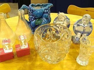 leaded Glass Bowl   Bud Vase