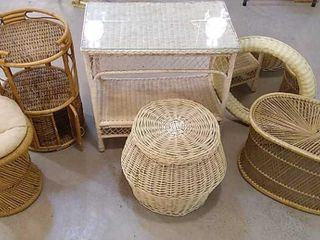 6  Wicker Furniture Pieces