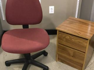 2 Drawer lamp Table   Rolling Desk Chair