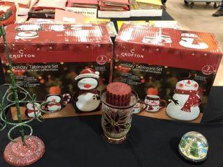3 Piece Holiday Tableware Set x2
