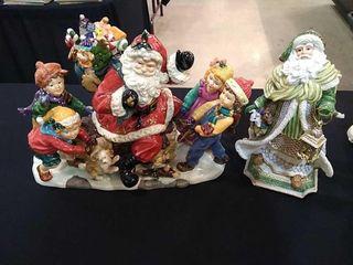 Santa w  Children Figurine   Santa Music Box
