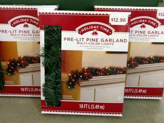 Pre lit Pine Garland  3  Boxes
