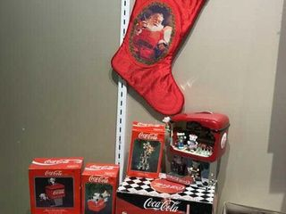 9  Coca Cola Bear Ornaments  Soda Shop  Stocking
