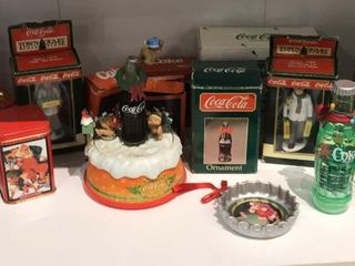 large Selection of Coca Cola Ornaments  Candles
