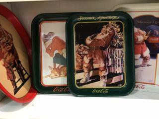 4  Tin Coca Cola Trays