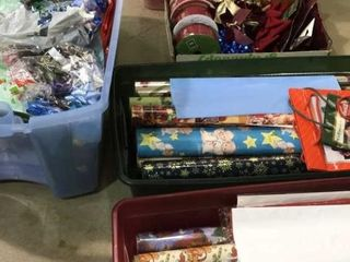 Wreath Storage Box  Ribbon  Wrapping Paper