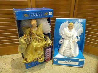 2  Fiber Optic light Up Angels