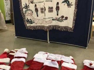 Christmas Throw  Numerous Christmas Stockings