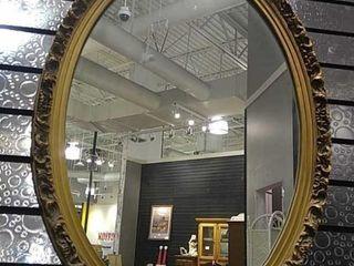 Oval Gilt Frame Wall Mirror  25 5 x 18