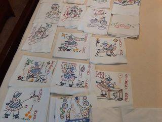 Assorted Embroidered Tea Towels
