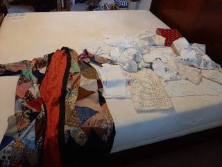 Robe and Assorted Doilies