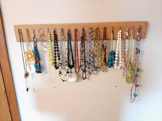 Oak Neclace Rack and Necklaces