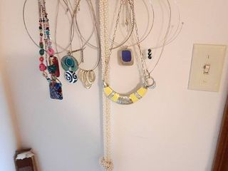 Necklace Holder and Necklaces