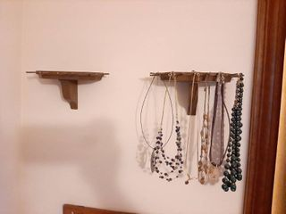 Necklace Shelf and Necklaces